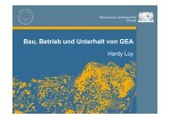 Bau, Betrieb und Unterhalt von GEA