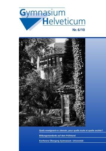 Gymnasium Helveticum Nr. 6/10 - vsg