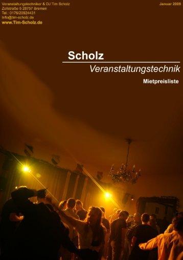 Mietpreisliste 2009 - EVEN-Ts.de