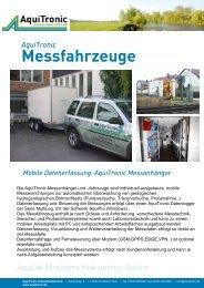 Messfahrzeuge - Aquitronic