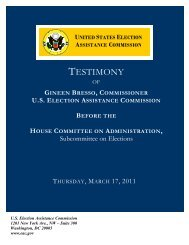 TESTIMONY - The US Election Assistance Commission