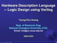 Hardware Description Language -- Logic Design using Verilog