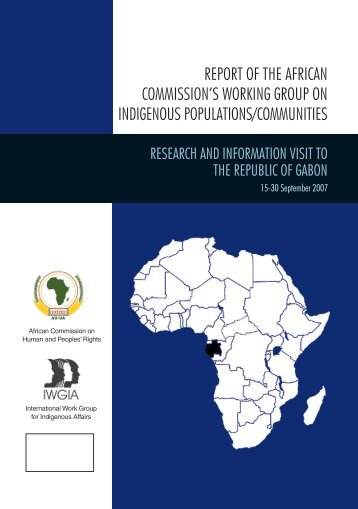 report of the african commission's working group on - iwgia