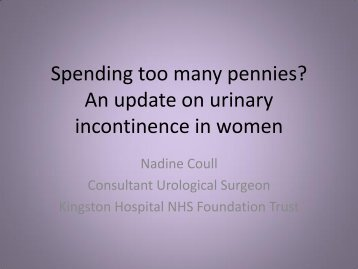 An update on Urinary Incontinence in Women ... - Parkside Hospital