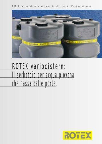 ROTEX variocistern: Il serbatoio per acqua ... - Esedra ENERGIA