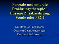 Perkutane endoskopische Jejunostomie (PEJ)