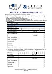 SAR Application Form V6 - SAMRA
