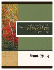 American Indian/Alaska Native National Behavioral Health Strategic ...