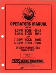 OPERATORS MANUAL - Westerbeke