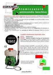 Atomizzatore antincendio boschivo - Cifarelli SpA