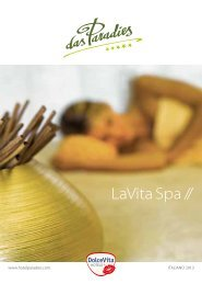 Catalogo wellness & beauty - Dolce Vita Hotels