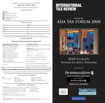 asia tax Forum 2008 - BMR & Associates