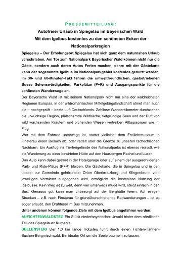 Autofreier Urlaub in Spiegelau im Bayerischen ... - familie-lippl.de