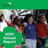 2010 Annual Report - Girl Scouts of Black Diamond