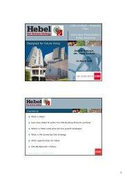 Hebel site visit presentation to Analysts - 31 March 2008 - CSR