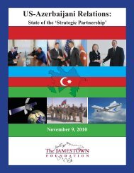 Azerbaijan 2010 Cover.indd - The Jamestown Foundation