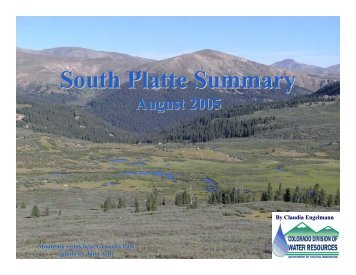 August - Colorado Division of Water Resources