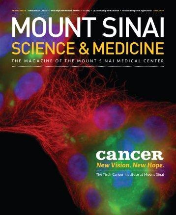 SCiEnCE & MEDiCinE - Mount Sinai Hospital