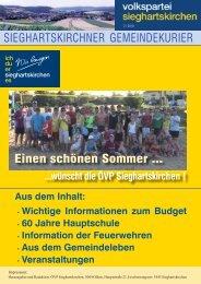Ausgabe 2/2010 - ÖVP Sieghartskirchen