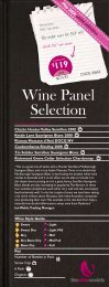 Wine Panel Selection May 2009 - White - The Wine Society