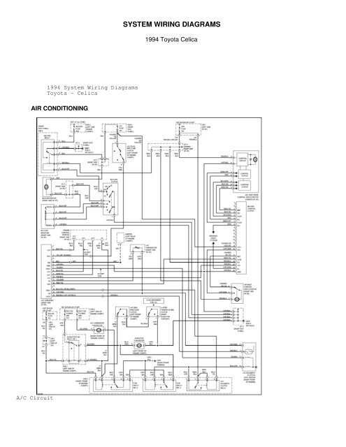 Celica Wiring Diagram | Wiring Diagram on