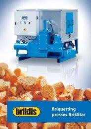 Briquetting presses BrikStar - Briklis, spol. s ro
