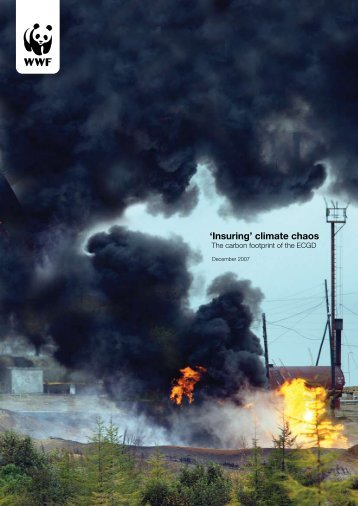 'Insuring' climate chaos - WWF UK