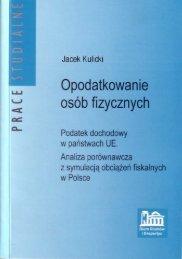 Opodatkowanie osób fizycznych - Biuro Studiów i Ekspertyz ...
