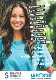 Service Civique - Foyer Notre-Dame des Sans-Abri