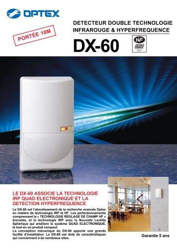 detecteur double technologie infrarouge & hyperfrequence dx-60 le ...