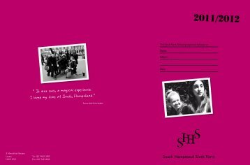 6th Form Prospectus 2011 V.7.indd - South Hampstead High School