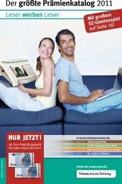 Der größte Prämienkatalog 2011 - Nachrichten auf Süddeutsche.de