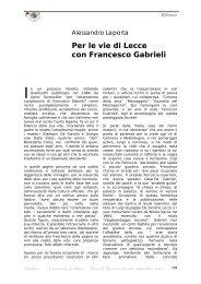 Per le vie di Lecce con Francesco Gabrieli - Amaltea