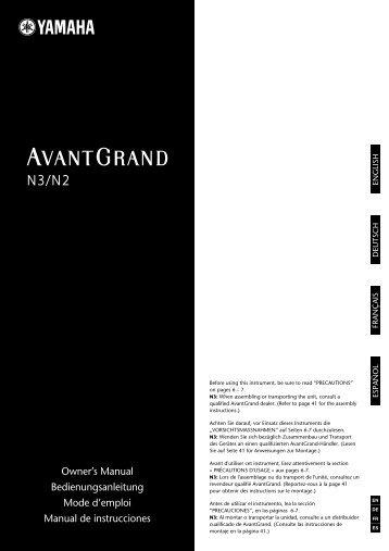 N3/N2 Owner's Manual - Yamaha Downloads
