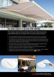 SOLIDORA CASSETTE FOLDING ARM AWNING - Viva Sunscreens