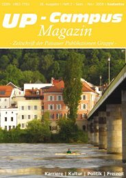 Neues aus der Redaktion - UP-Campus Magazin