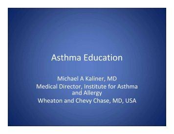 Michael A. Kaliner - World Allergy Organization