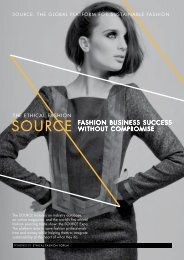 SOURCE: THE GLOBAL PLATFORM FOR SUSTAINABLE FASHION - Ethical ...