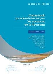 Dossier de presse Come Back sur Vendée des Iles à ... - Agence C3M