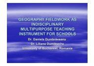 Geography Fieldwork as an Interdisciplinary, Multipurpose Teaching ...