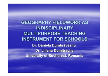 Geography Fieldwork as an Interdisciplinary, Multipurpose Teaching ...