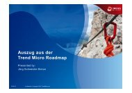Auszug aus der Trend Micro Roadmap