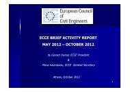 ecce brief activity report may 2012 - European Council of Civil ...