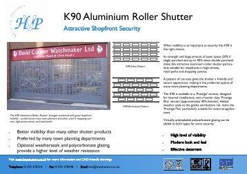 k90 brochure full - HVP Security Shutters