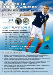 2012 Summer Holiday programme - Scottish Football Association