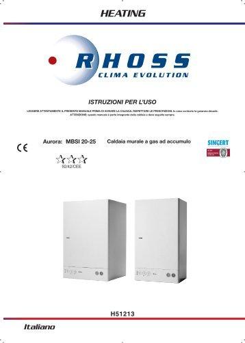 H51213-v07 Manuale Istr. per l'uso Aurora MBSI 20-25 ... - Rhoss