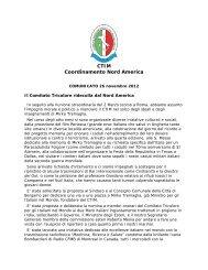 leggi l'intera relazione - Comitato Tricolore per gli Italiani nel Mondo