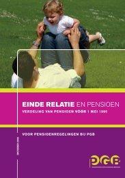 Einde relatie en Pensioen (voor 1 mei 1995) - PensioenfondsPGB