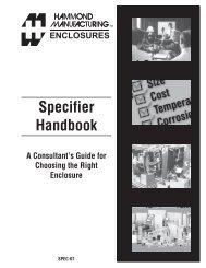 Specifier Handbook - Hammond Mfg.