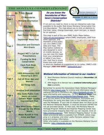 September 17, 2012 Volume 5 Issue 18 - Montana Association of ...